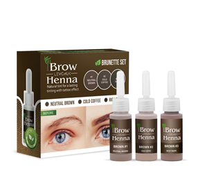 Bilde av LB-BH BROW HENNA KIT Brown m/3 Farger 3x10ml