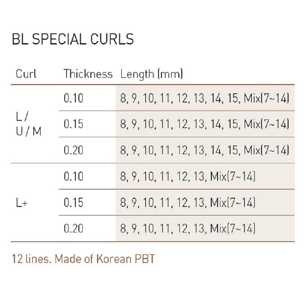 Bilde av BL-LASER MINK J-CURL 0,20-Mixed 7-14mm